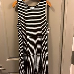Black and White tank dres